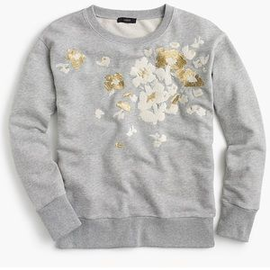 J.crew floral embroidered sweatshirt, NWT, sz m
